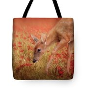 Inspecting The Poppies Tote Bag