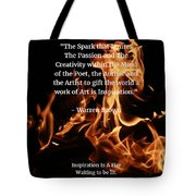Inspiration And Creativity Tote Bag