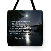 Inspiration In Darkness Tote Bag