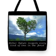 Inspirational-mother Nature Tote Bag