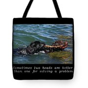 Inspirational-two Heads Tote Bag