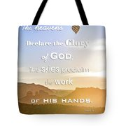 Hot Air Balloon Over Cathedral Rock Tote Bag
