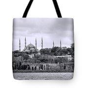 Instanbul In Black And White Tote Bag