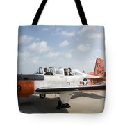 Instructor Pilot And Student In A T-34 Tote Bag