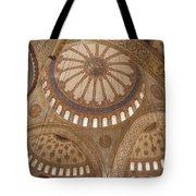 Inter Domes Of Sultan Ahmed Mosque Tote Bag