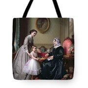 Interior At 'the Chestnuts' Wimbledon Grandmother's Birthday Tote Bag by J L Dyckmans