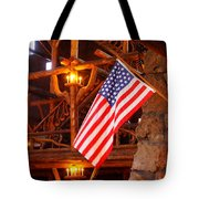 Interior Of Old Faithful Inn Tote Bag