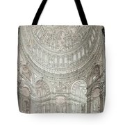 Interior Of Saint Pauls Cathedral Tote Bag