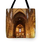 Interior Of Strasbourg Cathedral Tote Bag