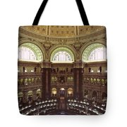 Interior Of The Library Of Congress Tote Bag