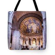 Interior Sacre Coeur Basilica Paris France Tote Bag