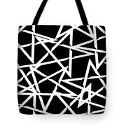 Interlocking White Star Polygon Shape Design Tote Bag