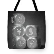 International Currency Symbols Tote Bag