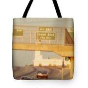 Interstate 44 West At Exit 287, Kingshighway Exit, 1980 Tote Bag