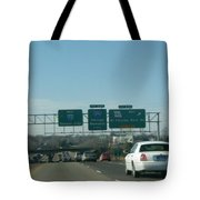 Interstate 70 West At Exit 234, Route 180 West Exit, 1999 Tote Bag