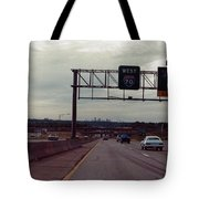 Interstate 70 West At Exit 8b, Interstate 435 North Exit, 1987 Tote Bag