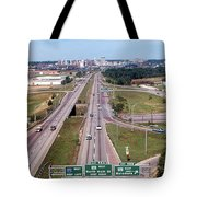 Interstate 74 West At Exit 95b, Route 116 East Exit, 1975  Tote Bag