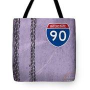 Interstate 90 Tote Bag