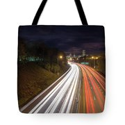 Interstate Freeway Through Portland Oregon Downtown Tote Bag