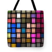 Intertwined Abstract Background Tote Bag