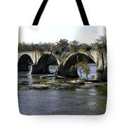 Interurban Bridge At Roche De Bout Tote Bag
