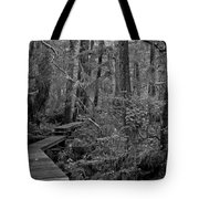 Into A Magical World Black And White Tote Bag