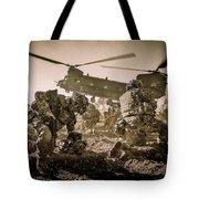 Into Battle-sepia Tote Bag