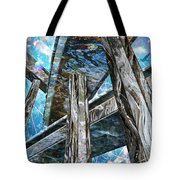Into The Blue Again Tote Bag