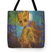 Into The Eyes Of Baby Groot Tote Bag