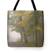 Down The Mountain, Into The Fog Tote Bag