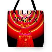 Into The Future Falcon 9 Tote Bag