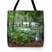 Into The Green Swamp Tote Bag