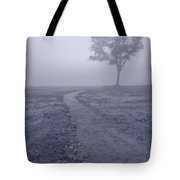 Into The Mist Bw Tote Bag by Steve Gadomski