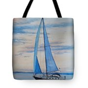 Into The Setting Sun Tote Bag