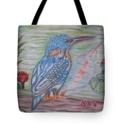 Into The Tropics The Philippine Kingfisher  Tote Bag