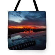 Intracoastal Sunset Tote Bag