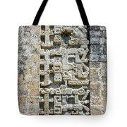 Intricate Details Of Mayan Ruins Tote Bag