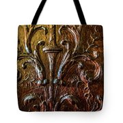 Intricate Wood Carving On Wall Panel At Swannonoa 4407vt Tote Bag