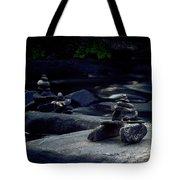 Inuksuk Stone Figures And River Tote Bag