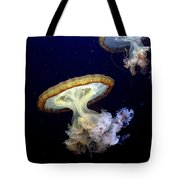 Invasion Of The Japanese Sea Nettles Tote Bag