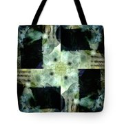 Invented Places, Mandala Series, Path With Flowers Tote Bag