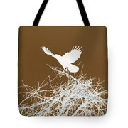 Inverted Crow Tote Bag
