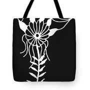 Inverted Small Flower Tote Bag