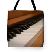Invisible Pianist Tote Bag