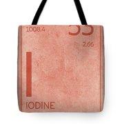 Iodine Element Symbol Periodic Table Series 053 Tote Bag