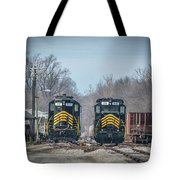 ioneer Lines PREX 912 and 806 at Evansville Indiana Tote Bag