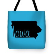 Iowa In Black Tote Bag