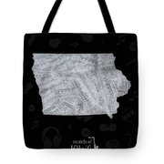 Iowa Map Music Notes 2 Tote Bag