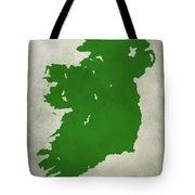 Ireland Grunge Map Tote Bag