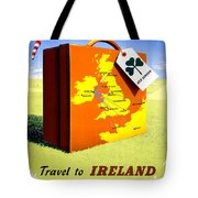 Ireland Vintage Travel Poster Restored Tote Bag